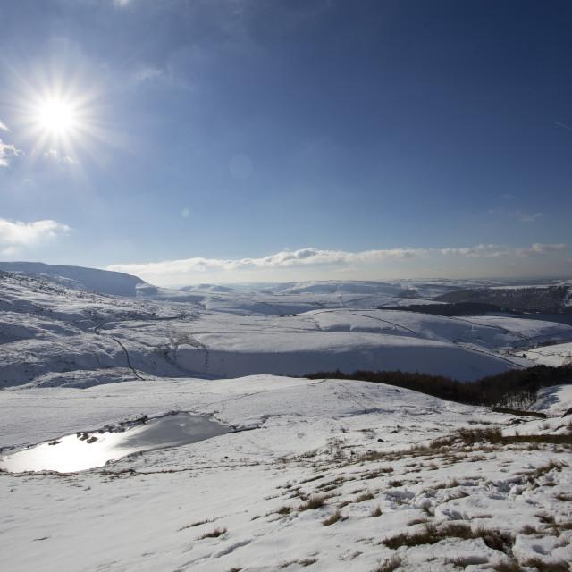 """""""Peak District snow scene"""" stock image"""