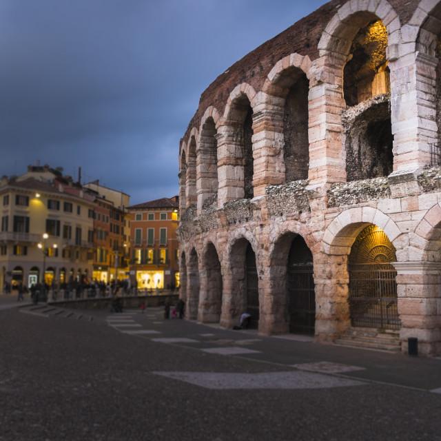 """""""Verona amphitheatre"""" stock image"""