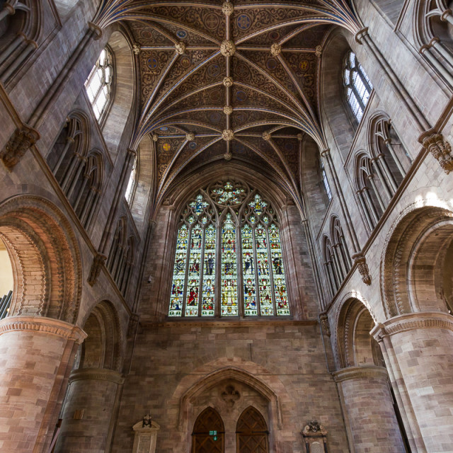 """Hereford Cathedral"" stock image"