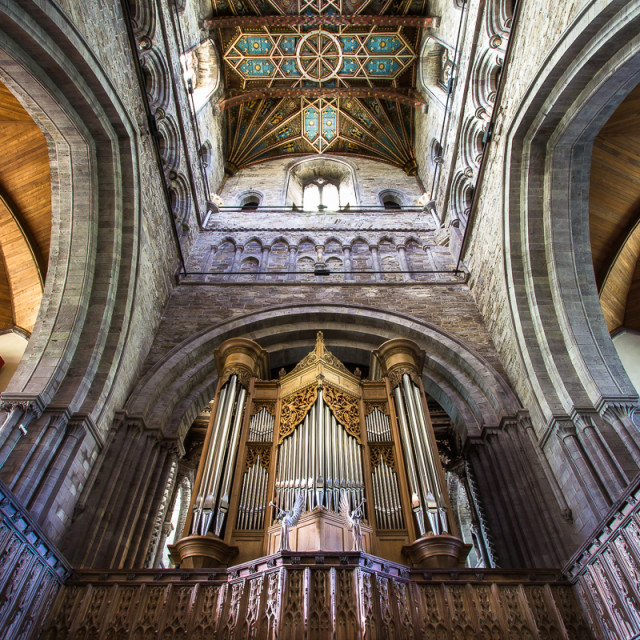 """St David's Cathedral, Wales"" stock image"