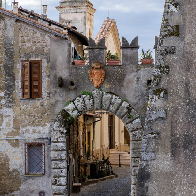 """Genazzano Archway"" stock image"
