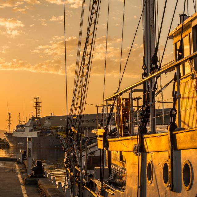 """""""Hobart Quayside Sunrise"""" stock image"""