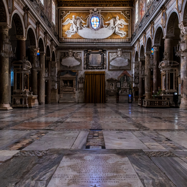 """Basilica of St.Mary of the Altar of Heaven"" stock image"