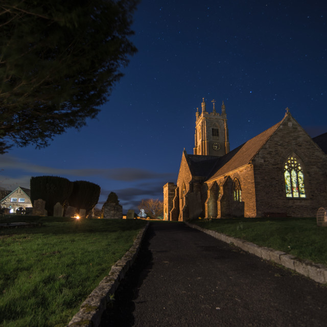 """The Parish at Night"" stock image"