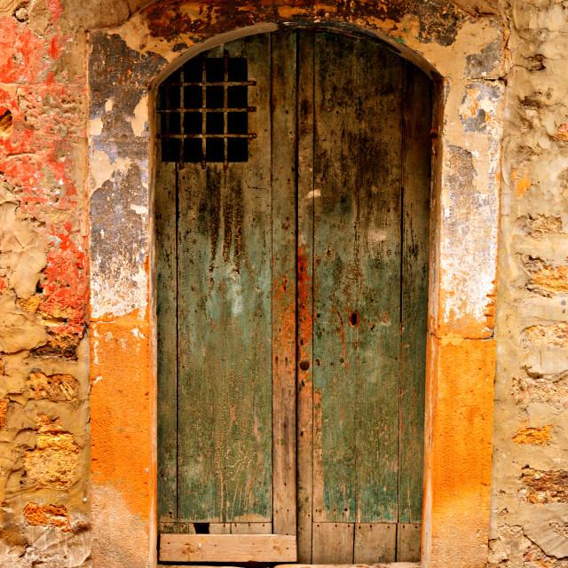 """""""Old Wooden Door"""" stock image"""