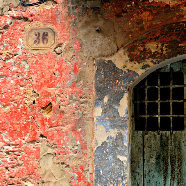 """""""Old Wall and Door"""" stock image"""