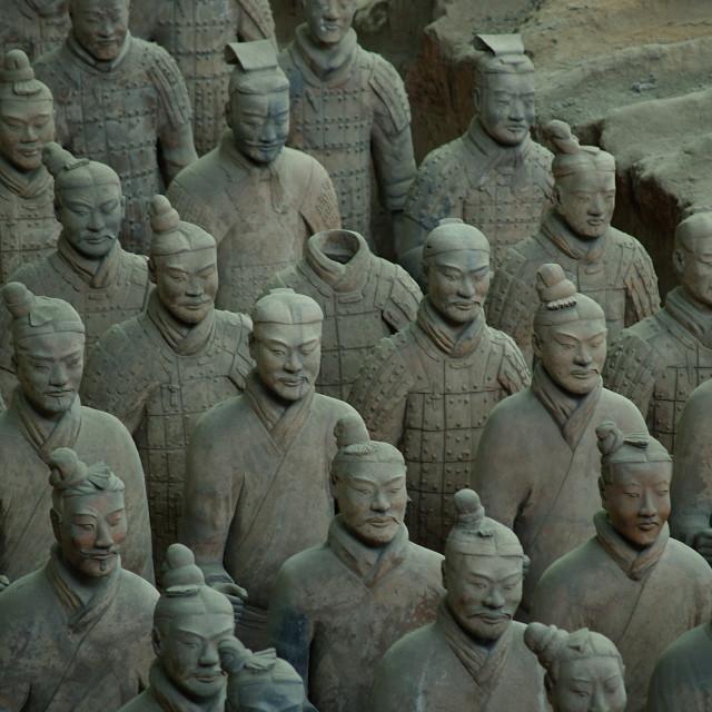 """Terracotta Army, Lintong, Xi'an, Shaanxi, China"" stock image"