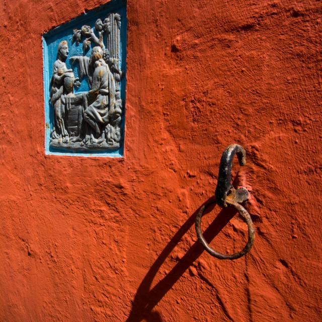 """Portmeirion Wall Detail"" stock image"