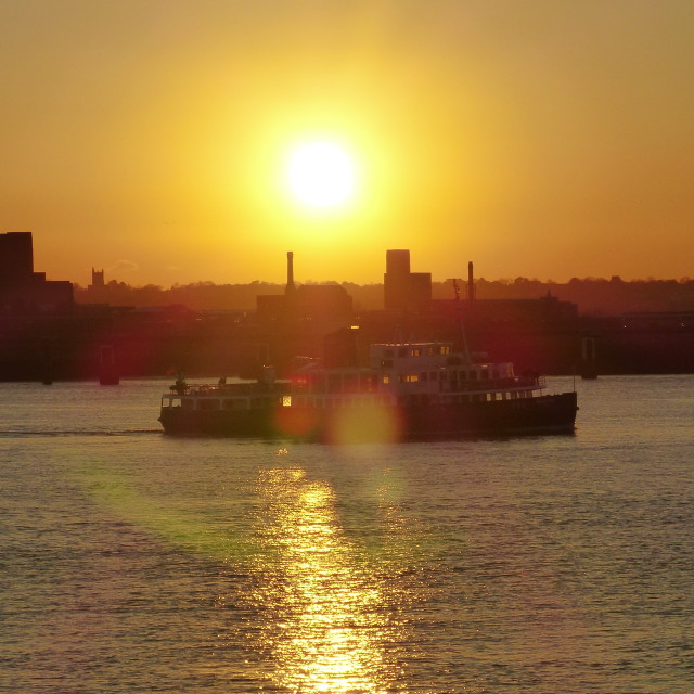"""""""Ferry across the Mersey"""" stock image"""