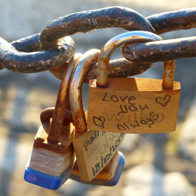 """Love padlocks II"" stock image"