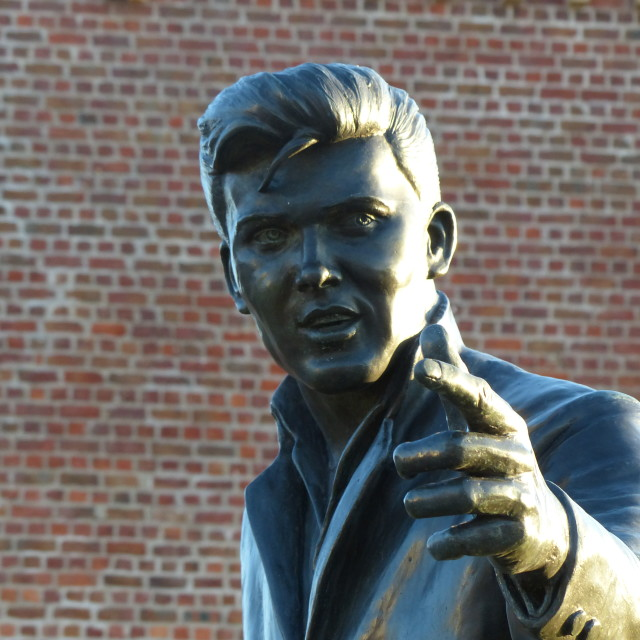 """Billy Fury sculpture"" stock image"