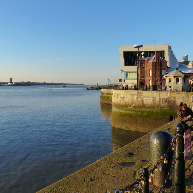 """The river Mersey Liverpool"" stock image"