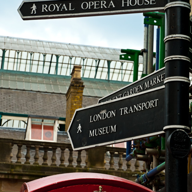 """London sign posts"" stock image"