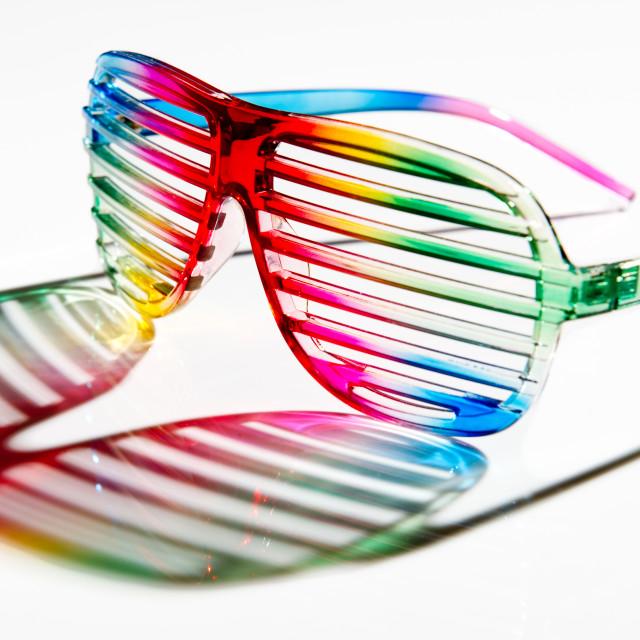 """Colourful sun glasses"" stock image"