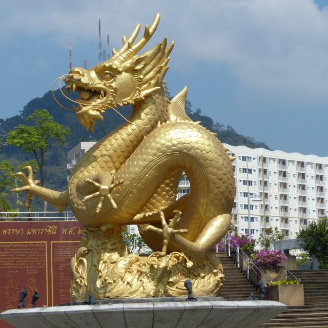 """Phuket Dragon statue"" stock image"