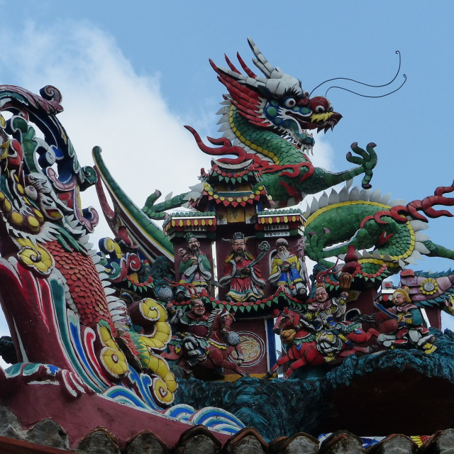 """""""Dragon decoration above a Thai shopping mall"""" stock image"""