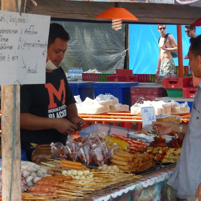 """Khao Lak market stall"" stock image"