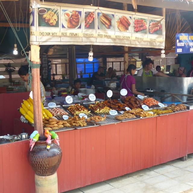 """Khao Lak market stall 2"" stock image"