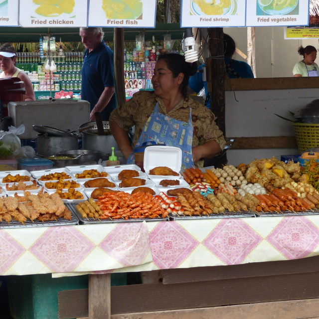 """Khao Lak market stall 3"" stock image"