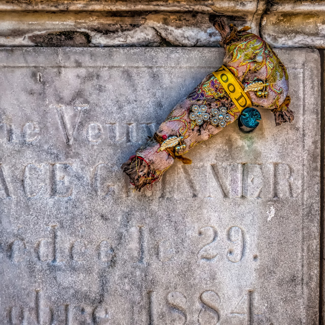 """VooDoo Doll in St. Louis # 1 Cemetery New Orleans, LA USA"" stock image"