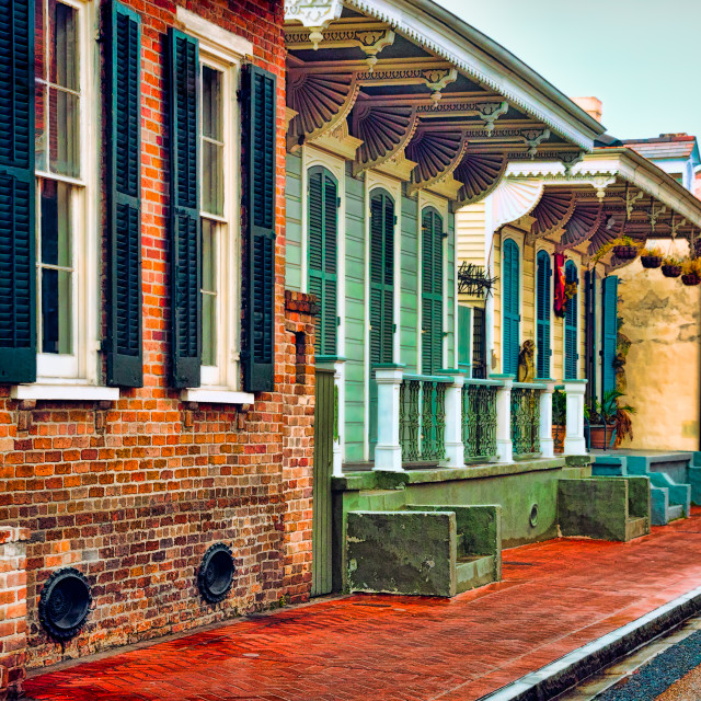 """French Quarter Houses, New Orleans, LA USA"" stock image"