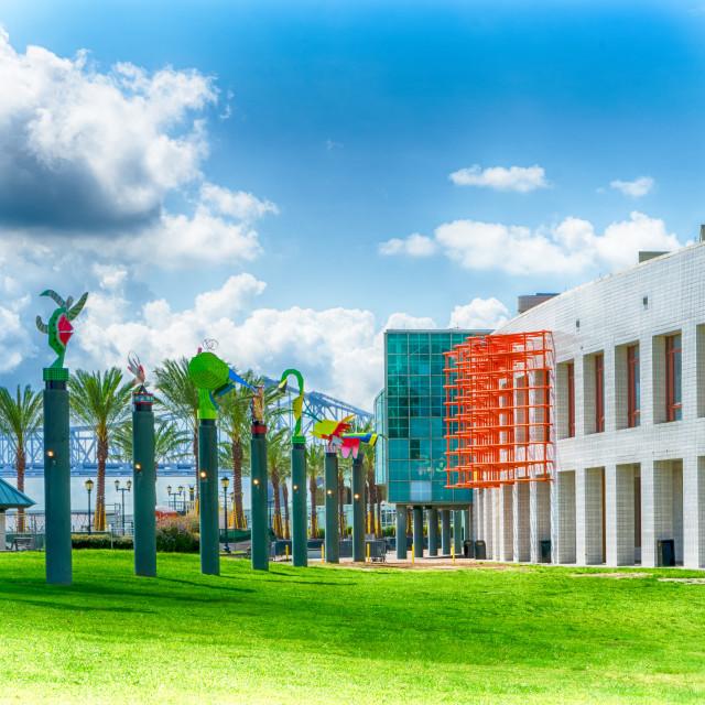 """""""Audubon Aquarium of the Americas"""" stock image"""