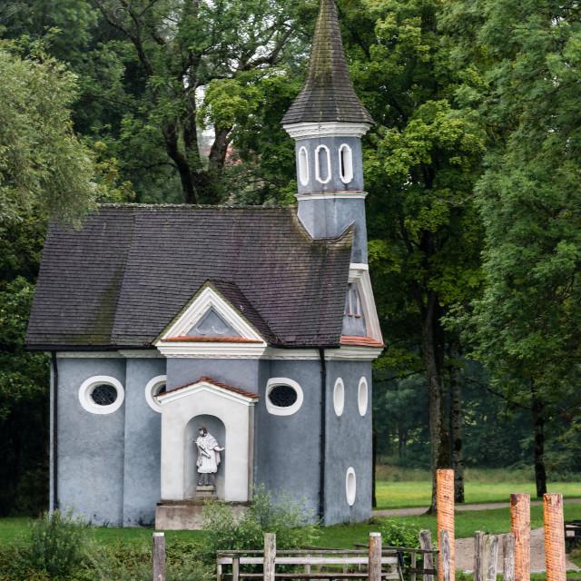 """Chapel at lake Chiemsee in Bavaria, Germany"" stock image"