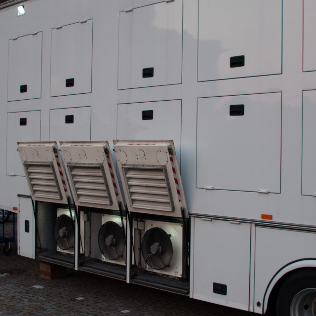 """Broadcast Truck"" stock image"