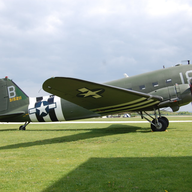 """""""'Band of Brothers' C-47A"""" stock image"""
