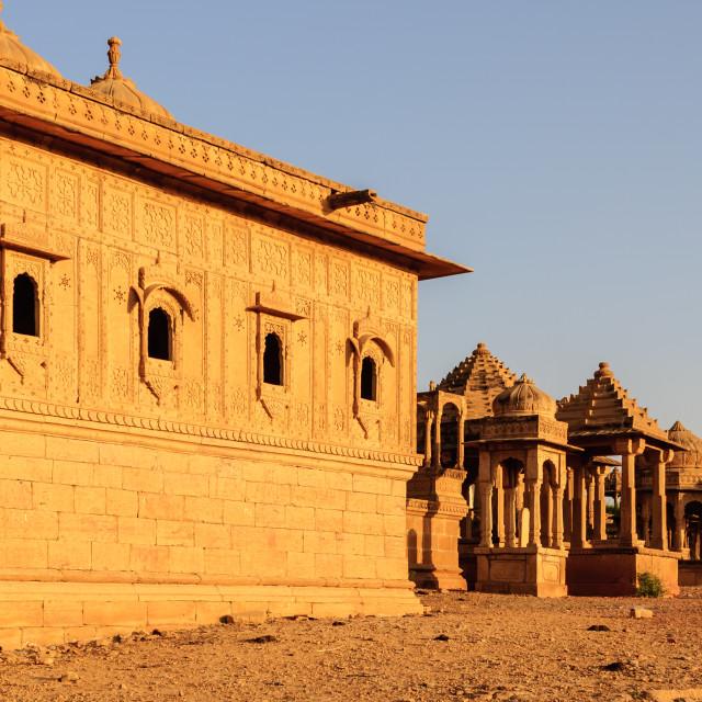 """Cenotaphs of Bada Bagh, King's memorials"" stock image"