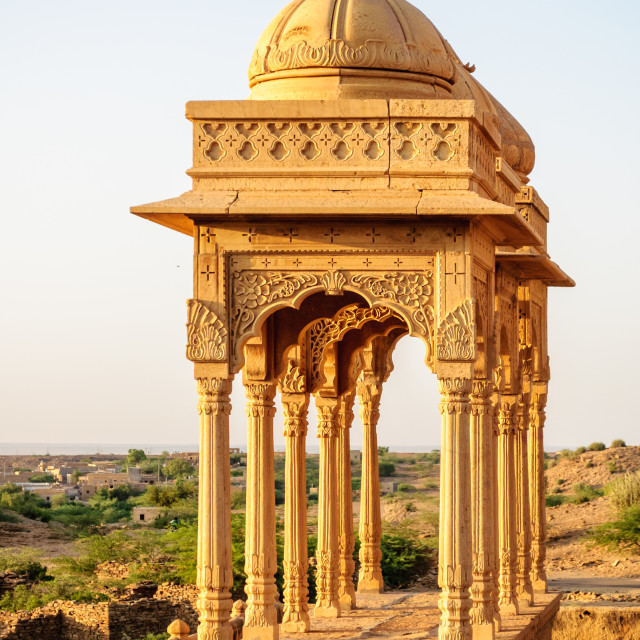 """Cenotaphs of Bada Bagh, King's memorials"" stock image"