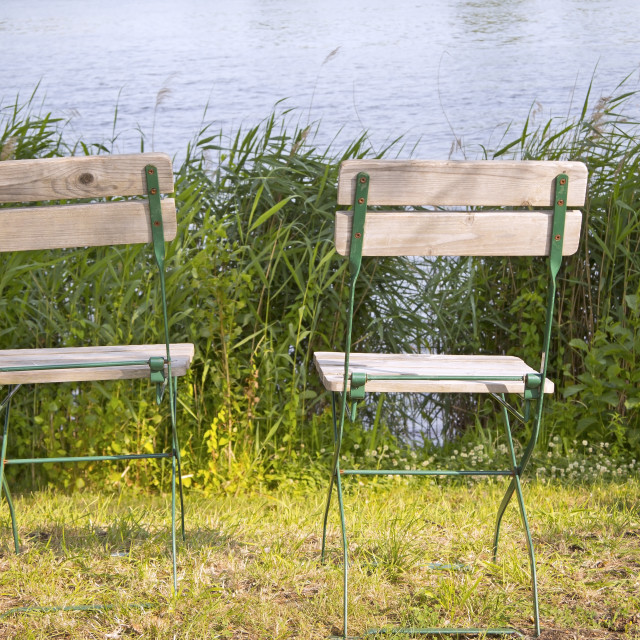 """""""Landscape with two Chairs"""" stock image"""