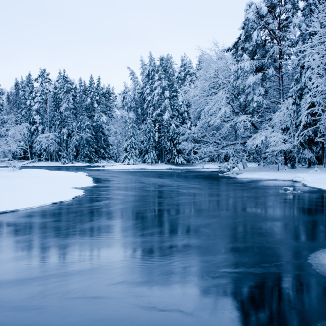 """River in winter"" stock image"