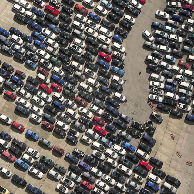 """Parked Cars"" stock image"