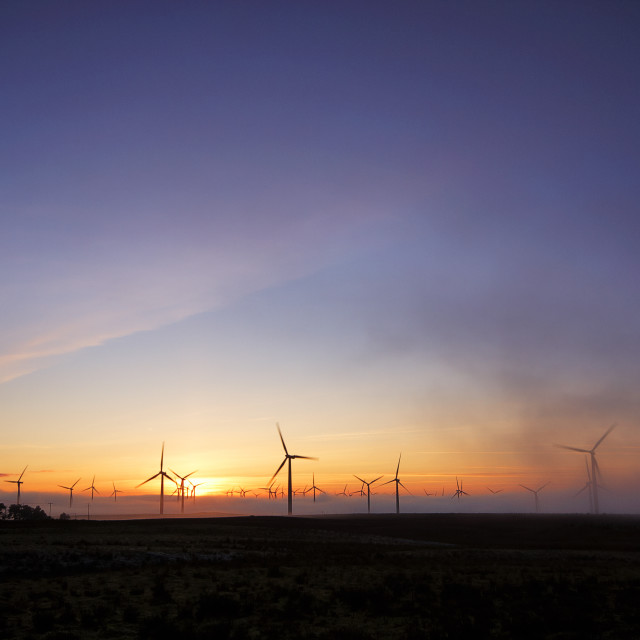 """Blacklaw windfarm, Forth"" stock image"