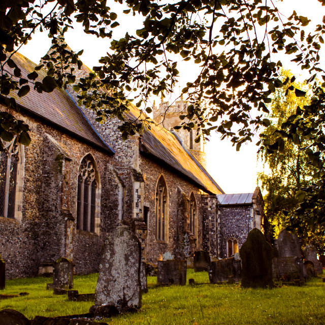 """The Churchyard"" stock image"
