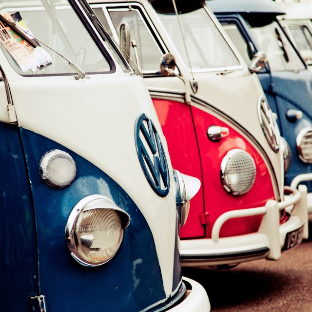 """VW Camper Vans"" stock image"
