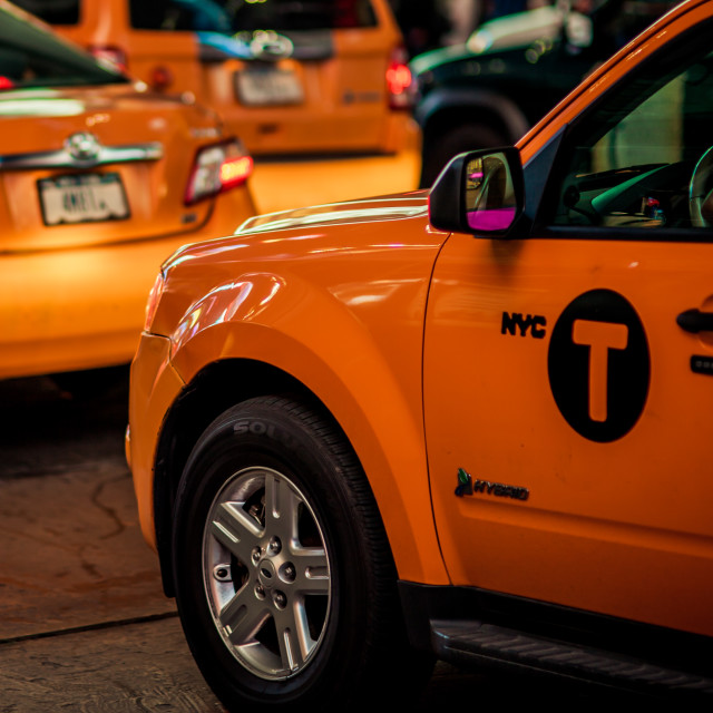 """NYC Cab"" stock image"