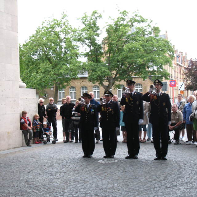 """""""Last Post at Ypres"""" stock image"""