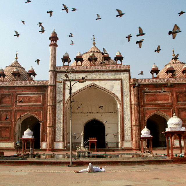 """The Jama Masjid in Agra"" stock image"