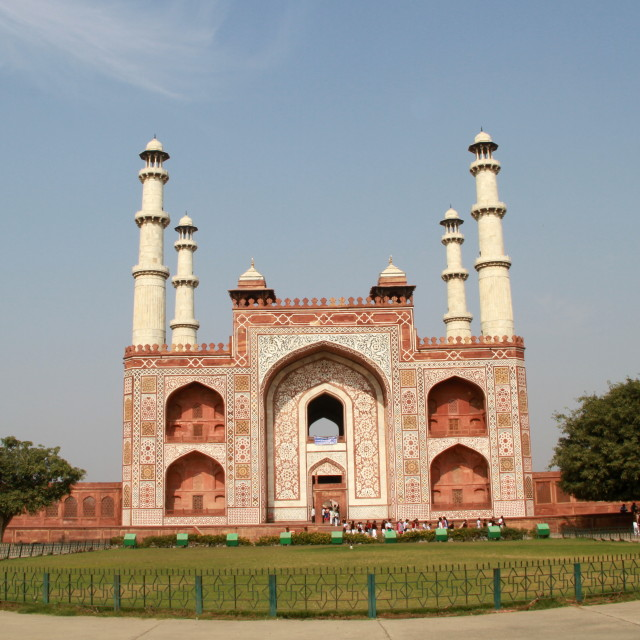 """The tomb of Akbar the great in India"" stock image"
