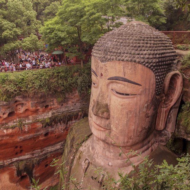 """The Giant Buddha, Da Fo, China"" stock image"