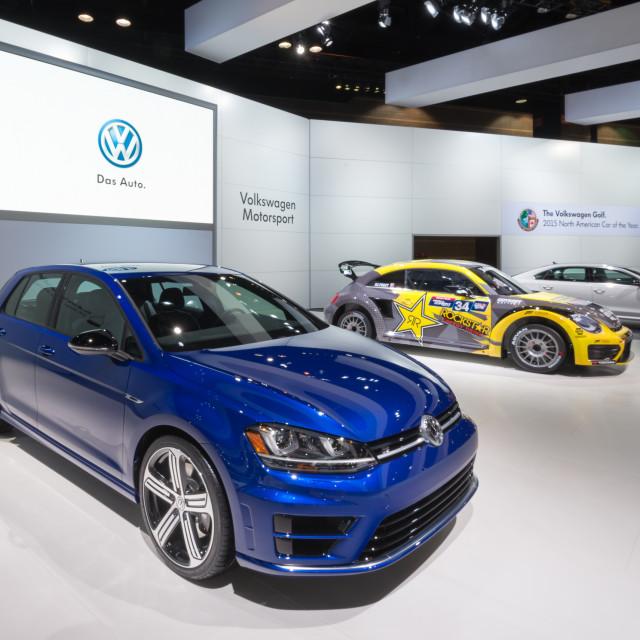 """""""2015 Volkswagen Golf R"""" stock image"""