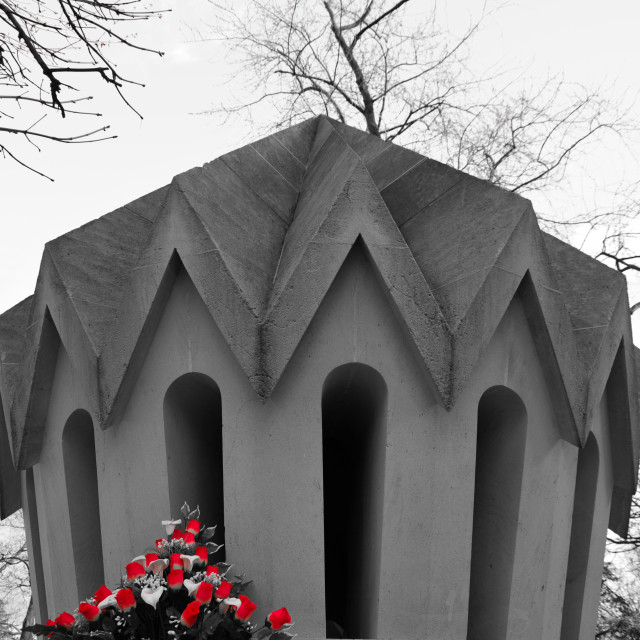 """Pere Lachaise mausoleum"" stock image"