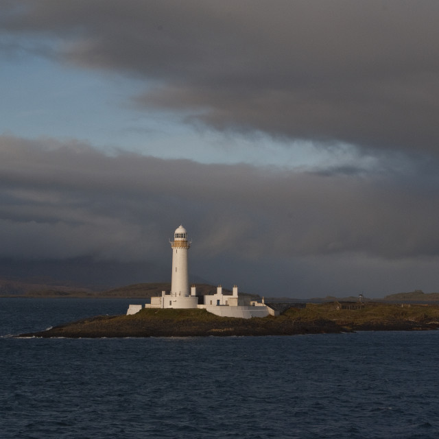 """Lighthouse Eilean Musdile Scotland"" stock image"