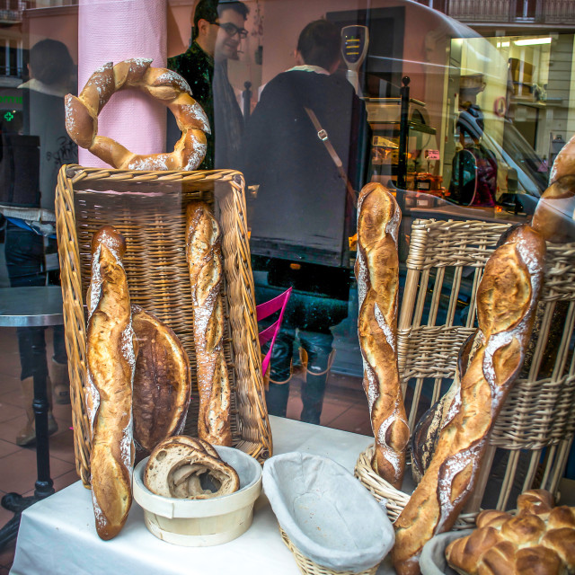 """Boulangerie Window in Paris, France"" stock image"