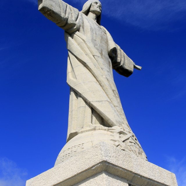 """""""Statue of Christ the Redeemer in Madeira"""" stock image"""