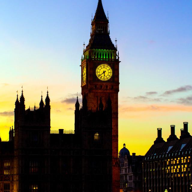 """The Big Ben Clocktower."" stock image"
