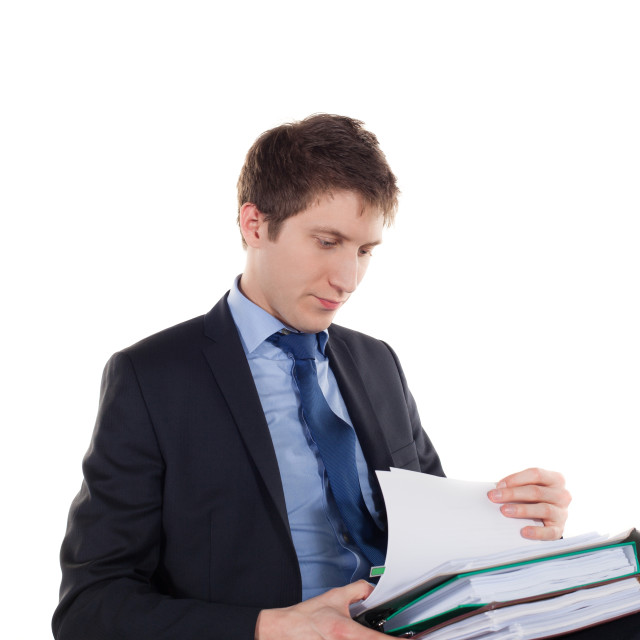 """young elegant businessman work"" stock image"