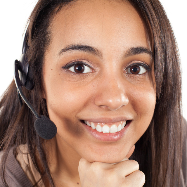 """support phone operator"" stock image"